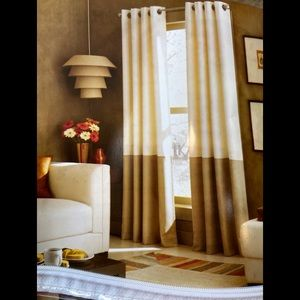 2 Kendall Grommet Curtain Panels 52x84 Brown